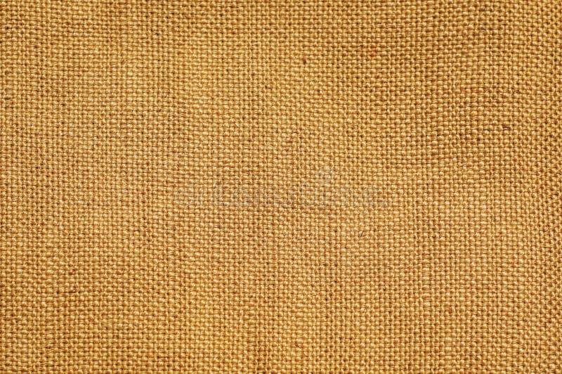 Jasnobrązowego beżu worka burlap konopiana tkanina textured tła obraz royalty free