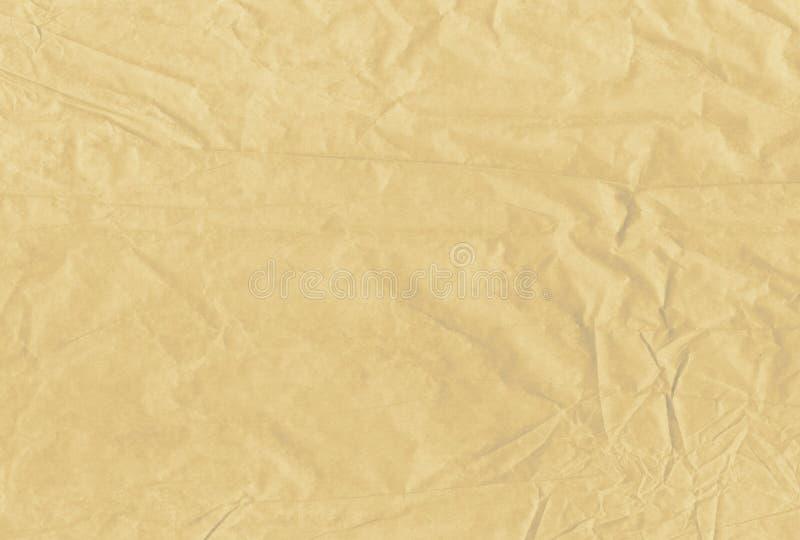 Jasnobrązowego pustego miejsca miący i grungy textured papierowy tło ilustracji