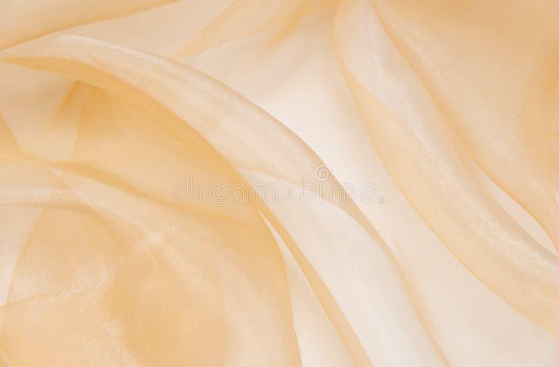 Jasnoróżowa organza tkanina z fałdami obrazy stock
