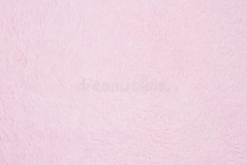 Jasnoróżowy pluszowy tkaniny tło zdjęcie stock