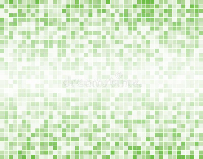Jasnozielony Kwadratowy mozaik płytek tło royalty ilustracja