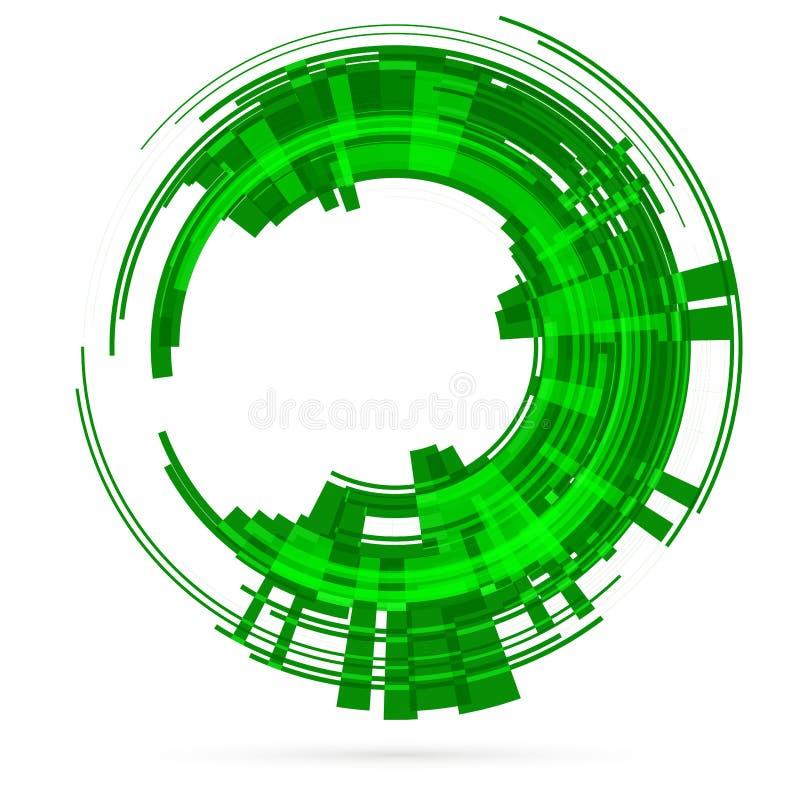 Jasnozielony technika okrąg raster ilustracja wektor