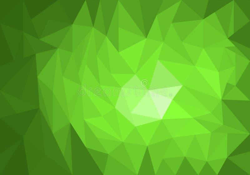 Jasnozielony wektorowy nowożytny geometrical abstrakcjonistyczny tło ilustracji