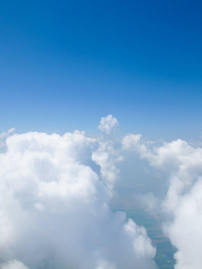 jasny chmurnieje niebo zdjęcie stock