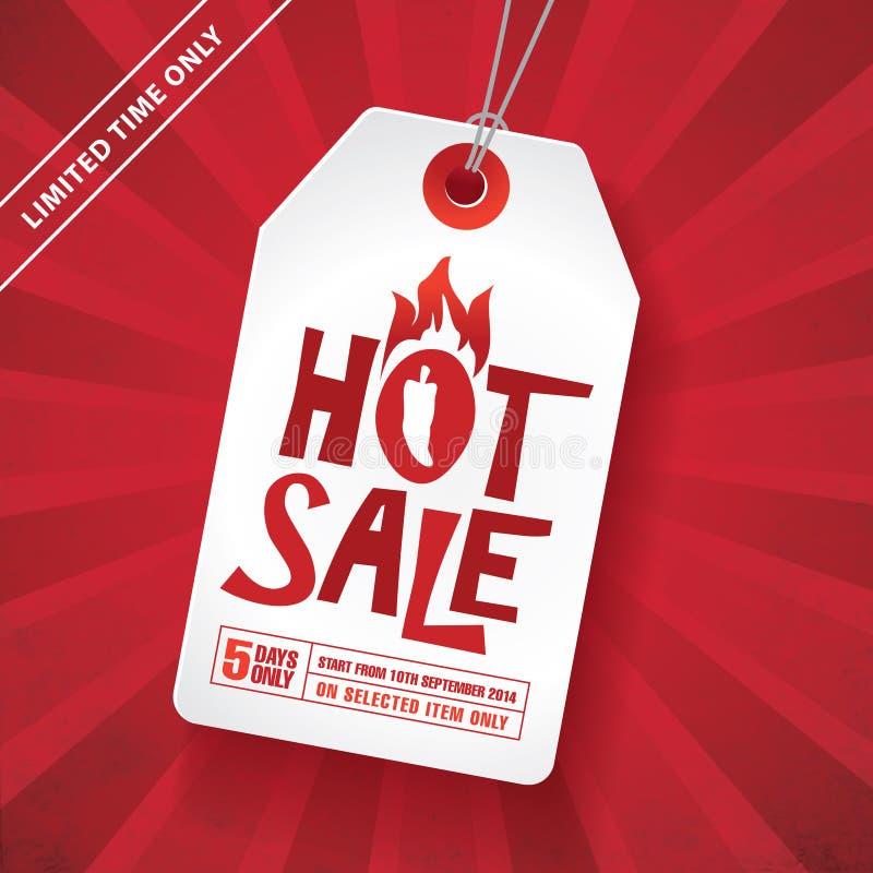jasny ilustracyjny czerwony tasiemkowy sprzedaży etykietki wektor ilustracja wektor