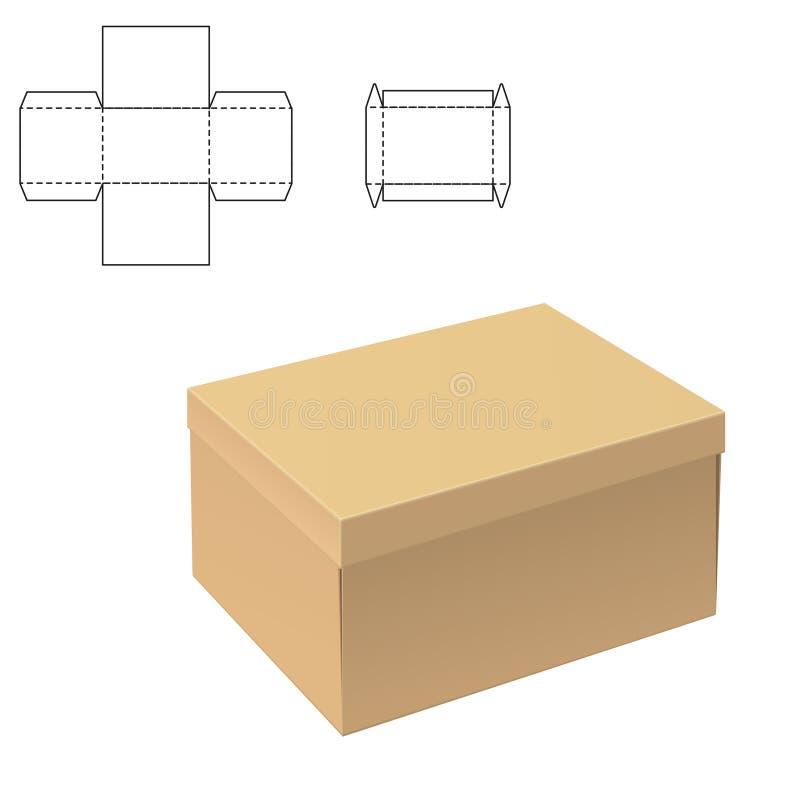 Jasny kartonu pudełko ilustracja wektor