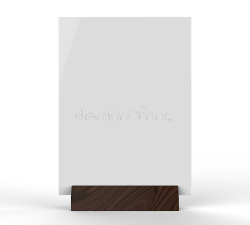 Jasny klingerytu i akrylowych stołowych rozmówc menu stołu namiotu wierzchołka znaka właściciela stołu menu karty pokazu stojaka  zdjęcia stock