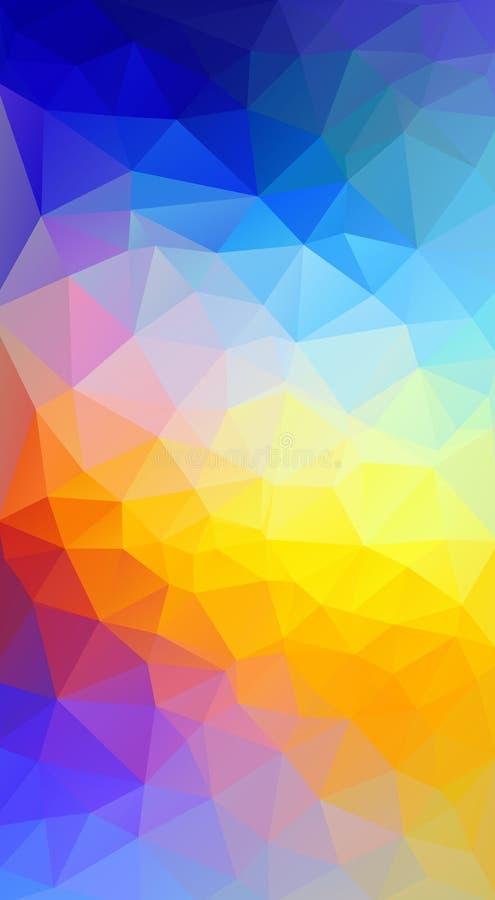 jasny kolor Płaskiego trójboka błękita i czerwieni gradientu jaskrawy tło ilustracja wektor