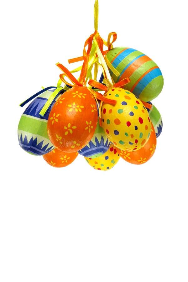 jasny kolor papieru pomalowane Wielkanoc jaj zdjęcia stock