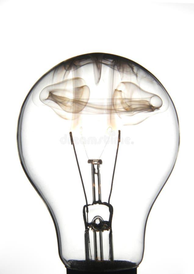 Jasny lightbulb palenie zdjęcie stock