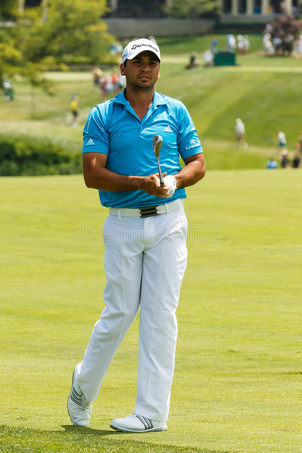 Jason Day at the Memorial Tournament. Jason Day on the 10th fairway at the 2014 Memorial Tournament royalty free stock photography