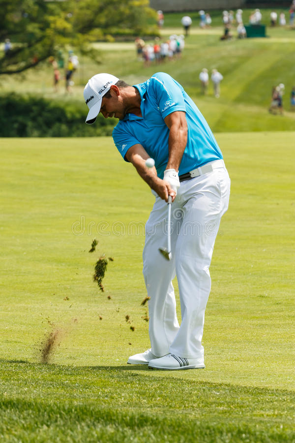 Jason Day at the Memorial Tournament. Jason Day on the 10th fairway at the 2014 Memorial Tournament stock photography