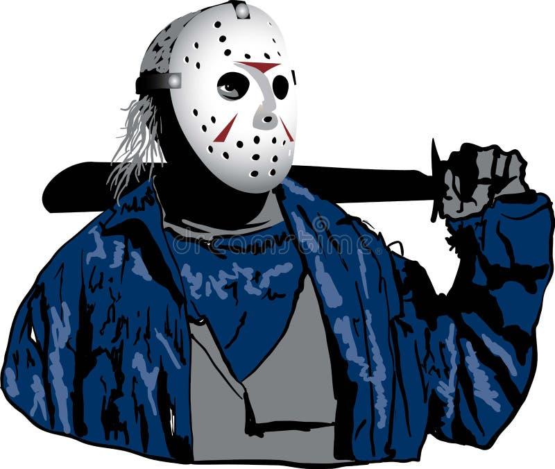 Jason with Hockey Mask On royalty free stock photo