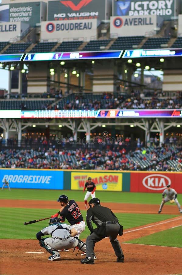 Jason Kipnis, Cleveland Indians Baseball game. Cleveland Indians Major League Baseball game at Progressive Field in Cleveland , Ohio, USA royalty free stock photo
