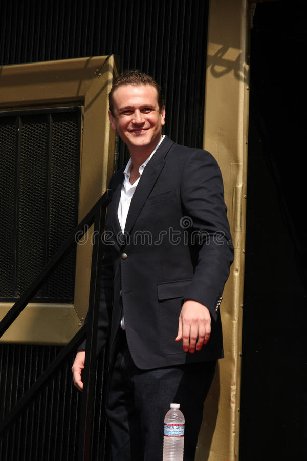 Jason Segal, Neil Patrick Harris stock foto's