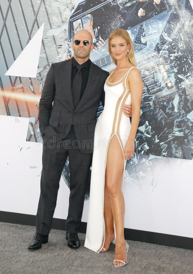 Jason Statham et Rosie Huntington-Whiteley images stock