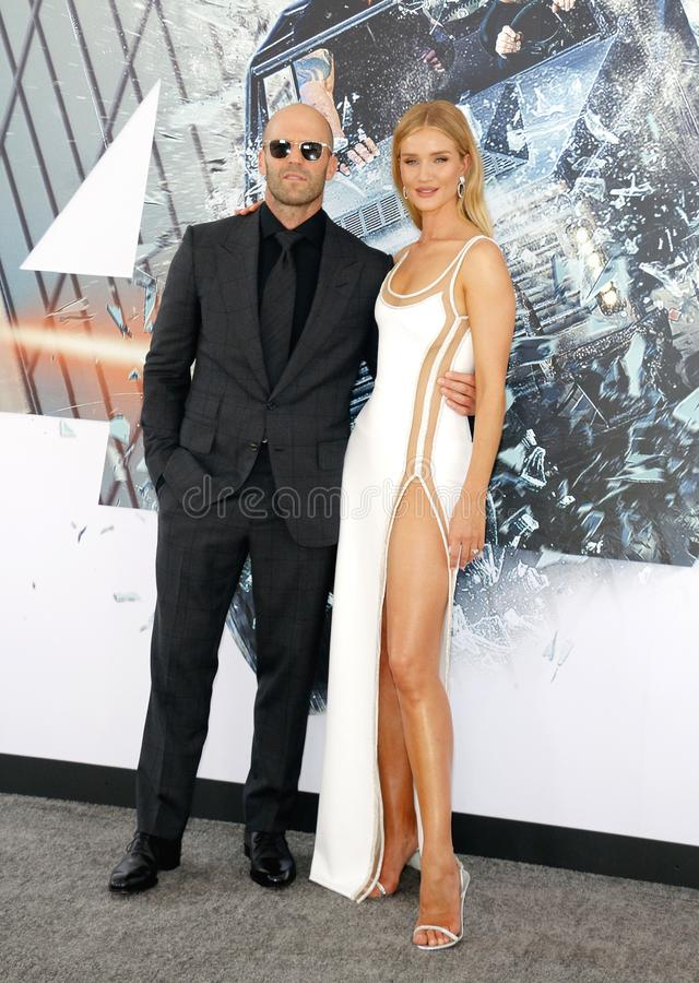 Jason Statham et Rosie Huntington-Whiteley photographie stock
