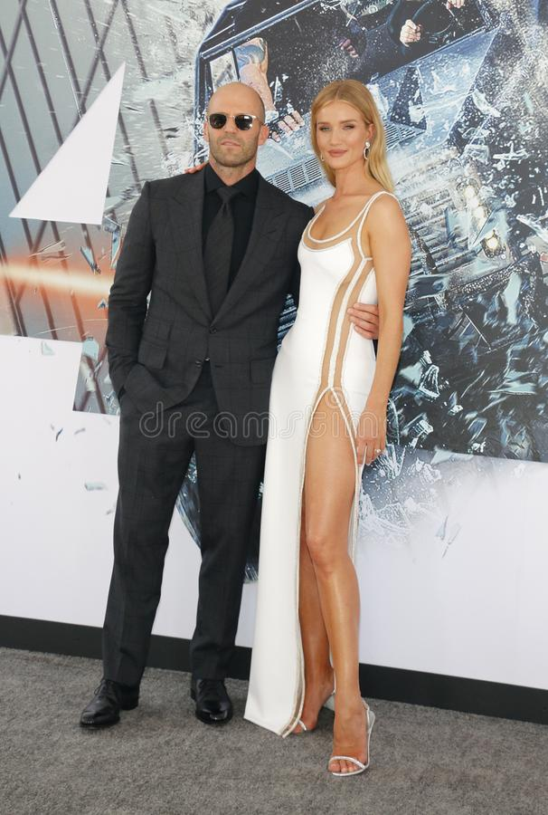 Jason Statham et Rosie Huntington-Whiteley image libre de droits