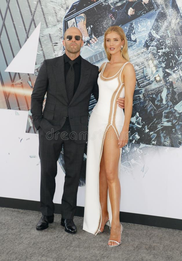 Jason Statham et Rosie Huntington-Whiteley image stock