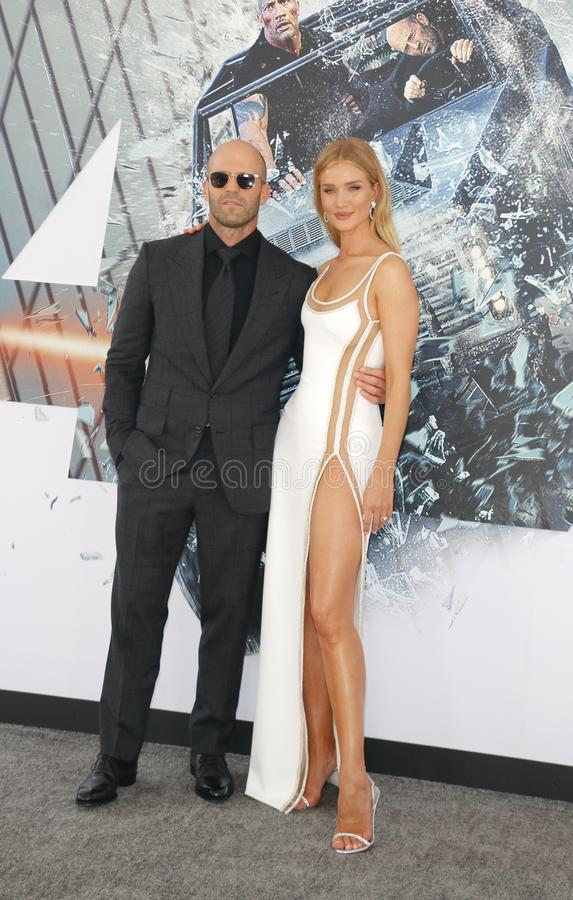 Jason Statham et Rosie Huntington-Whiteley photographie stock libre de droits