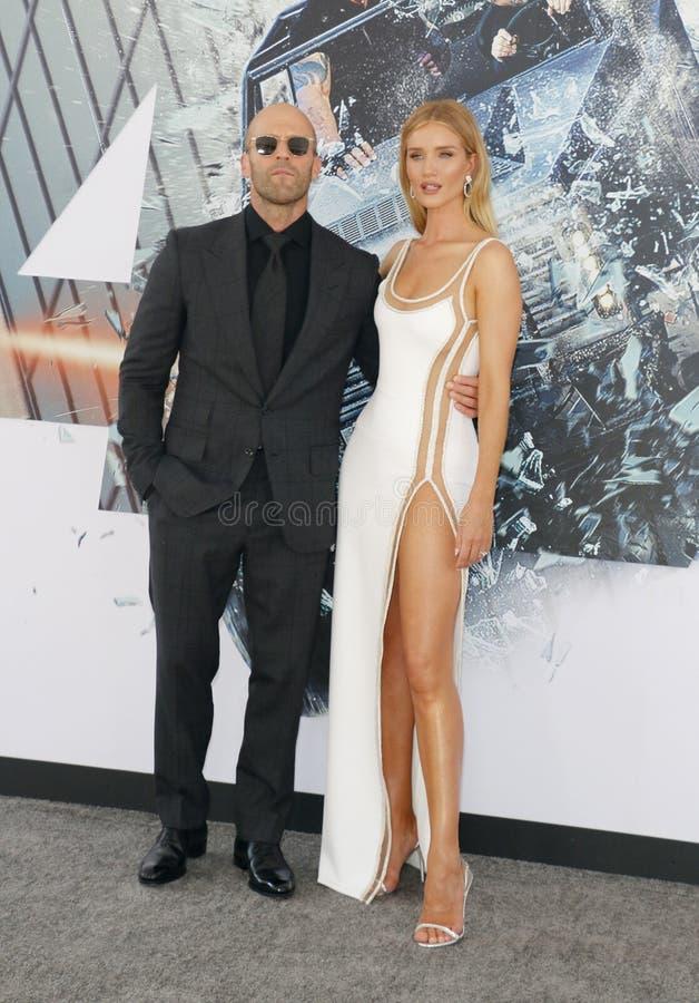 Jason Statham huntington i Rosa obraz stock