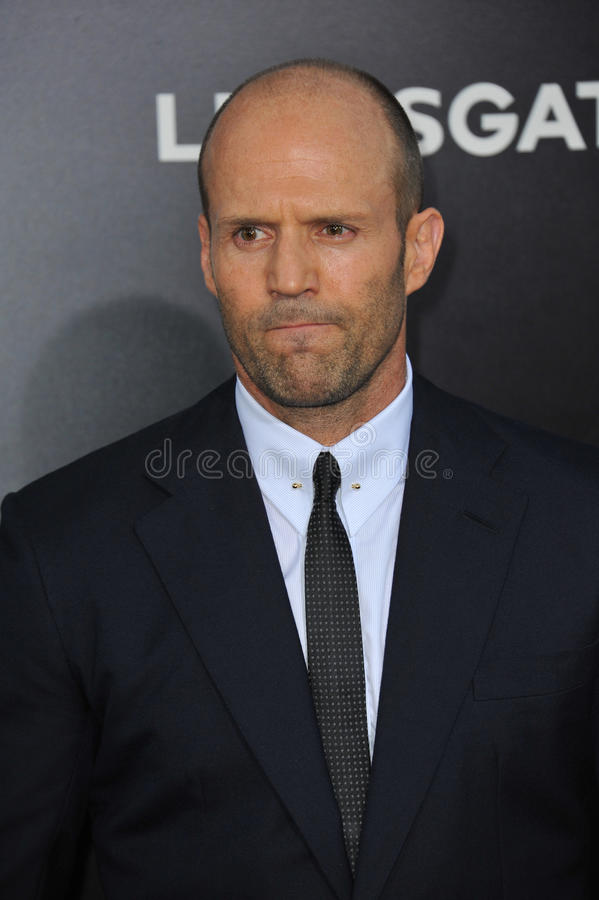 Jason Statham. LOS ANGELES, CA - AUGUST 11, 2014: Jason Statham at the Los Angeles premiere of his movie The Expendables 3 at the TCL Chinese Theatre, Hollywood royalty free stock photos