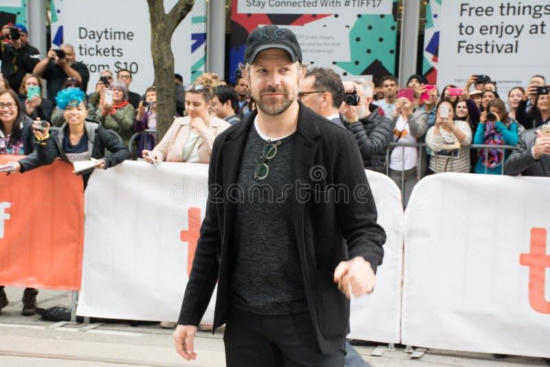 Jason Sudeikis bij de Première van ` Kodachrome ` bij internationaal de filmfestival van Toronto stock foto