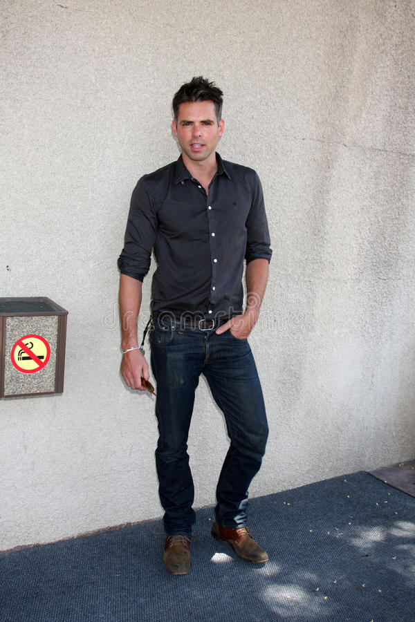 Jason Thompson. Arriving at the General Hospital Fan Club Luncheon at the Airtel Plaza Hotel in Van Nuys, CA on July 18, 2009 stock photos