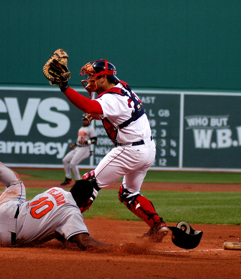 Jason Varitek Boston Red Sox fotografia stock libera da diritti