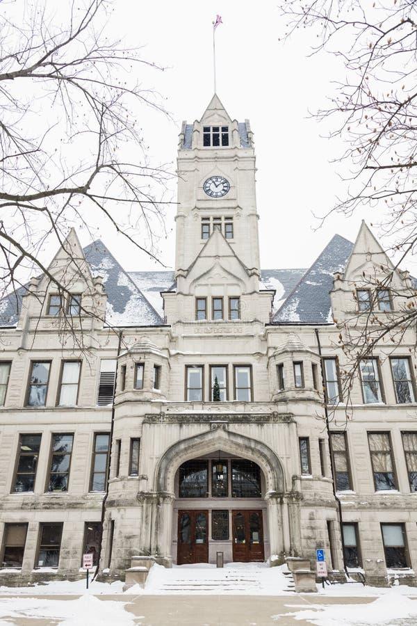Jasper County Courthouse en Rensselaer foto de archivo libre de regalías