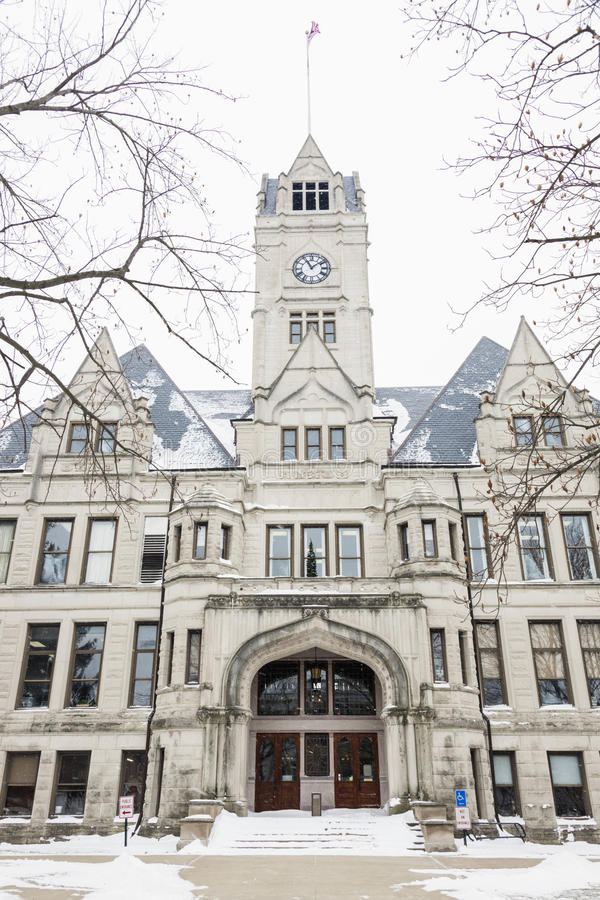 Jasper County Courthouse in Rensselaer. Indiana. Rensselaer, Indiana, United States royalty free stock photo