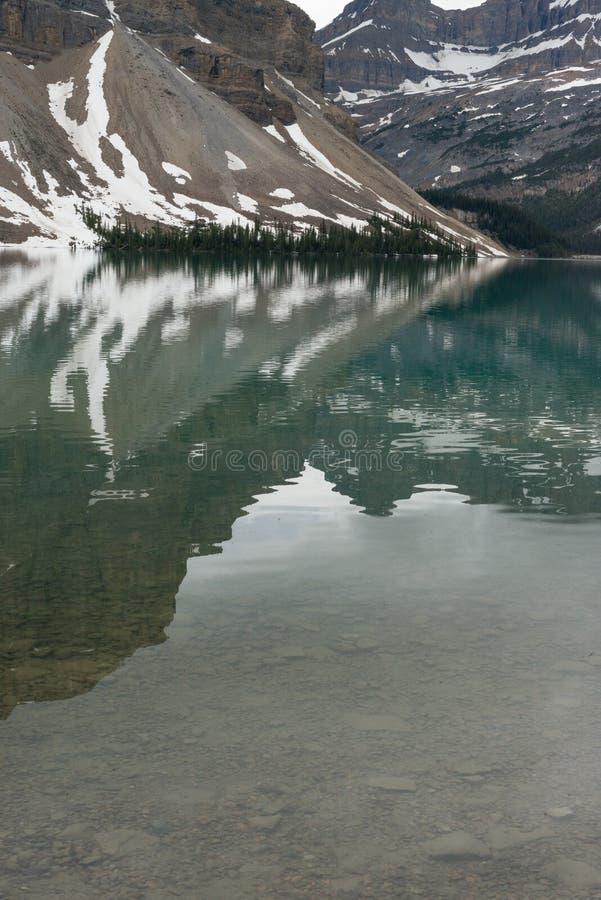 Jasper Glacier Reflections fotos de stock