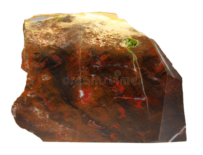 Jasper mineral macro isolated on white background royalty free stock photography