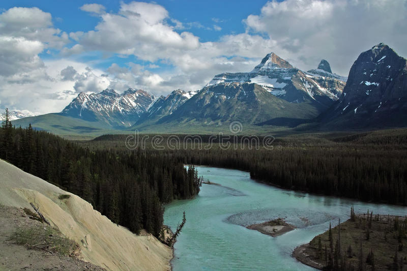 Jasper National Park, Alberta, Canada. fotografia stock libera da diritti