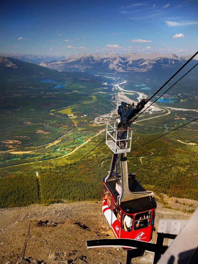 Jasper Sky Tram, canadense Montanhas Rochosas, fotografia de stock