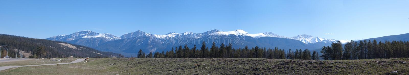 Jasper town panorama royalty free stock photos