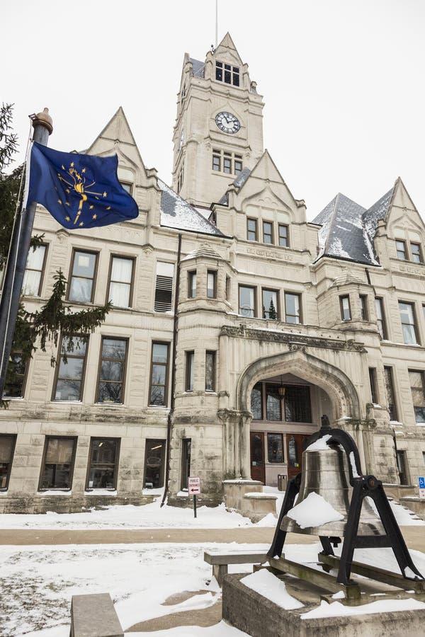 Jaspisowy okręgu administracyjnego gmach sądu w Rensselaer, Indiana fotografia stock