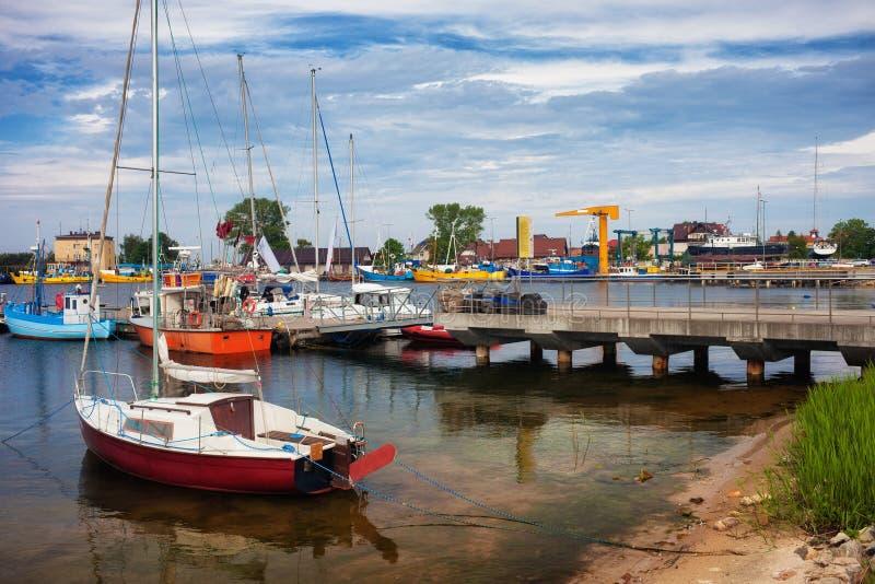 Jastarnia port i Polen arkivbilder