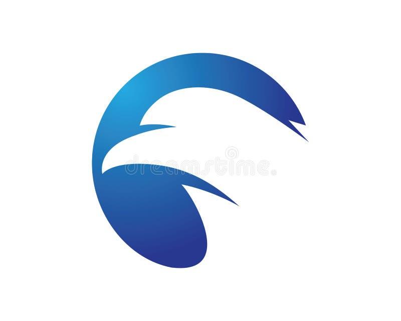Jastrząbka Eagle loga Ptasi szablon ilustracja wektor