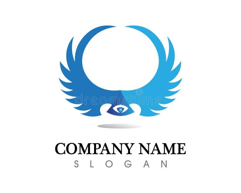 Jastrząbka loga Skrzydłowego szablonu ikony wektorowy projekt royalty ilustracja