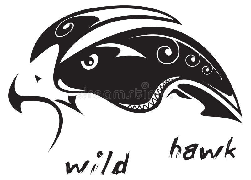 jastrzębia tatuażu plemienny dziki ilustracji