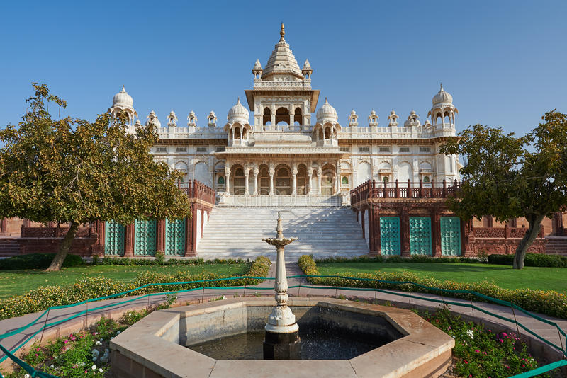 Jaswant Thada is een cenotaaf in Jodhpur, in India wordt gevestigd dat stock afbeelding