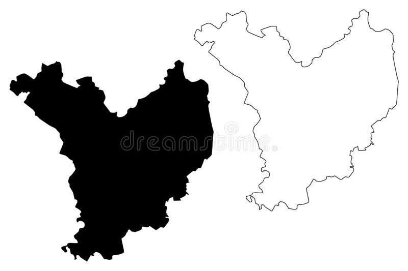 Jasz-Nagykun-Szolnok County Hungary, Hungarian counties map vector illustration, scribble sketch Jász-Nagykun-Szolnok Jasz. Nagykun Szolnok map royalty free illustration