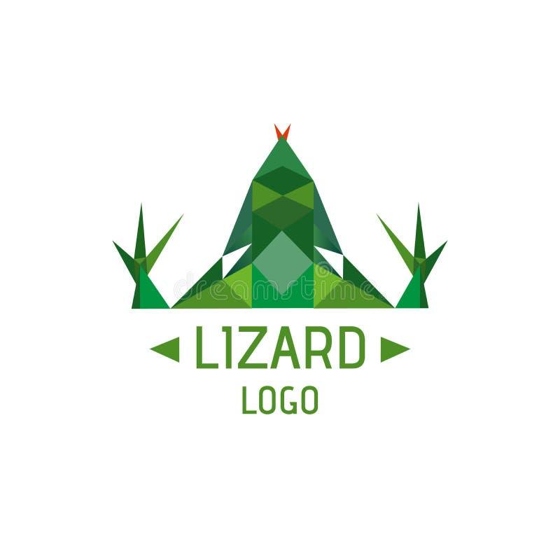Jaszczurka logotyp royalty ilustracja