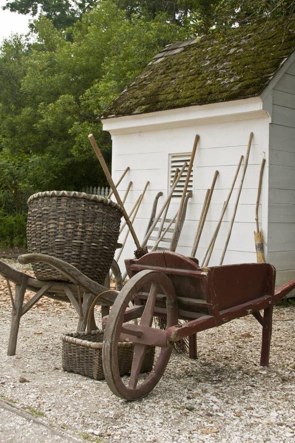 jat ogrodnicze narzędzia fotografia stock