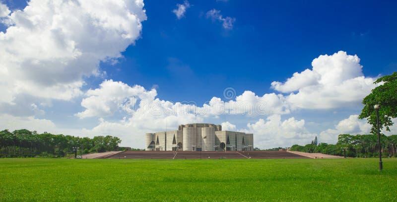 Jatiya Sangsad Bhaban nationell parlament Bangladesh royaltyfria foton