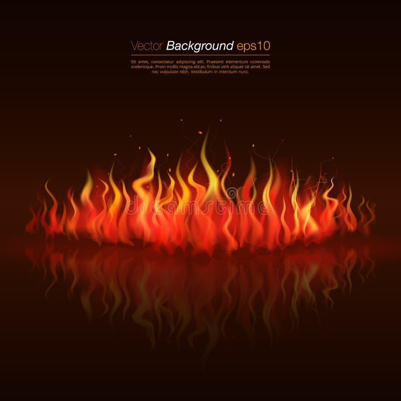 Jatki tła ogienia płomień Płonące zastępcy ilustracji
