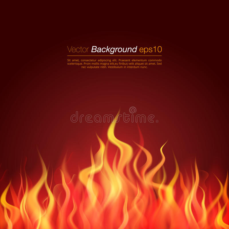 Jatki tła ogienia płomień Płonące zastępcy royalty ilustracja