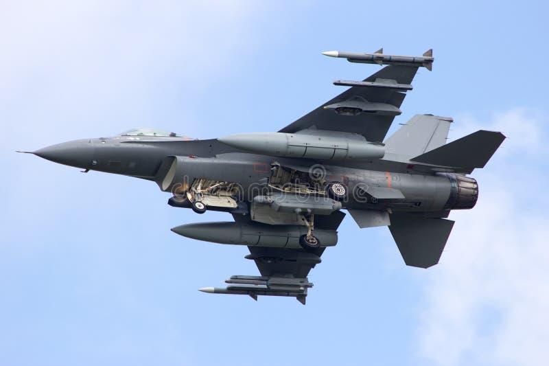 Jato do caça F-16 foto de stock royalty free