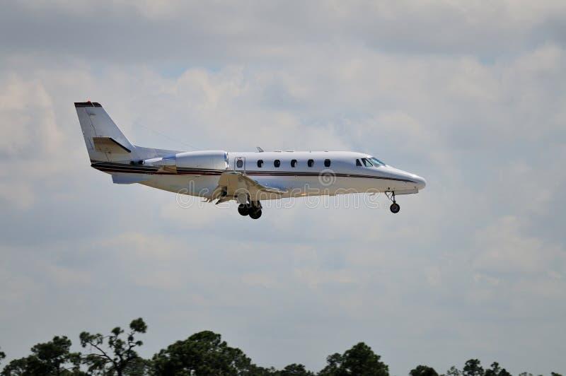 Jato do negócio de Cessna 560XL imagens de stock royalty free